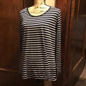 Black & White Striped Long Sleeve Tee